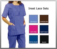 Ceil Blue Scrubs Sets by Natural Uniforms Childrens Unisex Solid Scrubs Set