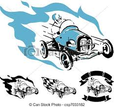 Vector Vintage Racing Car