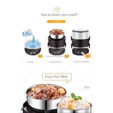 steamer cuisine faber portable food steamer electric mini lunch box faber mini