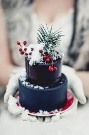 Navy Blue Christmas Mini Wedding Cake