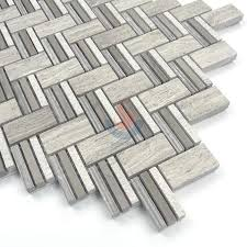 wooden grey marble herringbone mosaic tile white oak silver