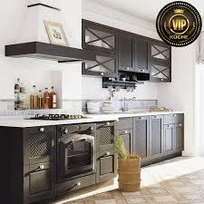 landhausküche era premiumklasse massivholz küchenzeile dunkelbraun weiß