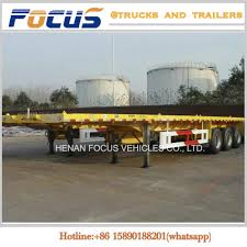 China 20FT 40FT Container Carrying Special Truck Semi Trailer For ...
