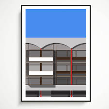 100 Crescent House A2 Limited Edition_ Golden Lane Estate Art Print