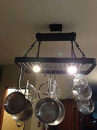 kitchen island pot rack lighting 2 kitchen design