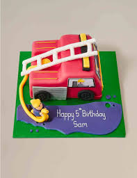 100 Fire Truck Birthday Cake Personalised Engine Serves 42 Last Day To Collect 7th