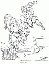 Iron Man The Avengers Coloring Pages