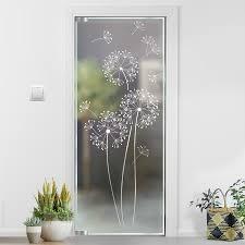pusteblume glasdekor glastür aufkleber glastattoo für tür