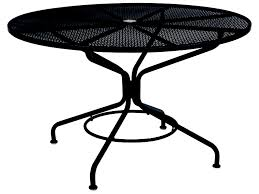 100 Small Wrought Iron Table And Chairs Woodard Mesh 48 Round With Umbrella Hole In