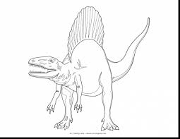 Stunning Realistic Spinosaurus Coloring Pages With Jurassic Park And Free Printable