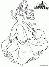 Disney Princess Belle Coloring Pages Cartoon Download