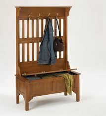 Entry Hall Tree Coat Rack Storage Bench Seat Tradingbasis Intended For Plan