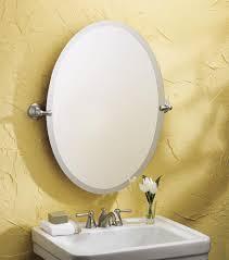 Bathroom Pivot Mirror Rectangular by Amazon Com Moen Dn6892bn Sage Bathroom Oval Tilting Mirror