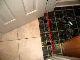 how to position door threshold on floor