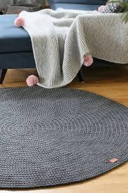 moderne dunkelgrau runden teppich rund teppich kinderzimmer