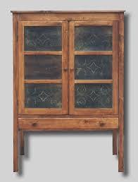 tin punch pantry door Pie Safe Cabinet