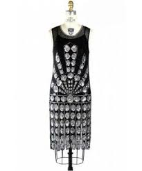 1920s Vintage Style Jazz Dress In Black