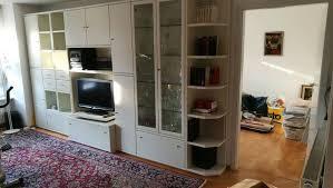 hülsta wohnzimmer schrankwand weiß