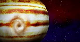 Stock Video Of Jupiter With Animated Layers And Big