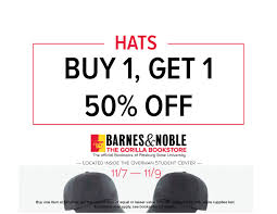 Gorilla Bookstore: BOGO 50% Hats! - Pittsburg State University Kean Universitys Barnes Noble Bookstore Open Its Doors Ucf And College Youtube Bentley Waltham Ma Mrg Cstruction Management Monsters University Toys On Clearance At Most Circle Businses Not Seeing Much Of A Boost From Press Photos News Events Liberty Commercial Glass Plastics Premier Service Supplies The Ohio State Buckeyelink Connie Bombaci To Spin Off Bookstores Into Separate