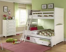 White Full Over Full Bunk Beds With Stair — All Home Ideas And