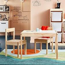 ikea latt kindertisch mit 2 stühlen weiß kiefer beige table with 2 chairs