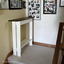 Diy Entry Console Table Foyer How To Rustic Furniture Woodworking