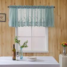 details zu spitze kurz blackout vorhang panel volant girlande querbehang küche badezimmer