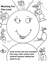 Labor Day Ant Working Coloring Page