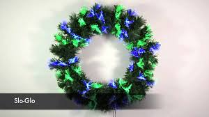 Fiber Optic Christmas Trees The Range by Red Blue U0026 Green Led Fibre Optic Christmas Wreath Xs1665 Youtube