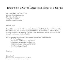Cover Letter Submit Article To Journal Sample Manuscript Submission For Al Ex