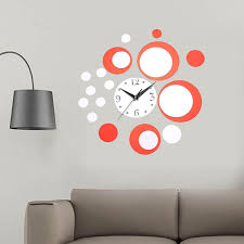 Luxury 3D DIY Wall Art Mirror Clock Home Modern Design Removable Decal Wall Sticker Decor