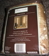 Allen Roth Curtain Rod Instructions by Allen Roth Jamestown Lined Curtain Drapery Drape Panel 50x96 Gold