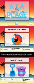 French Summer Beach Vocabulary Quiz On Slideshare