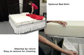 Bedskirt For Tempurpedic Adjustable Bed by Wood And Iron Bed Frame Bed Skirt Attached By Velcro Storage Bed