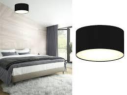 smartwares led deckenleuchte kleine dimmbare decken le mit stoff schirm schwarz skandinavisch schöne beleuchtung für wohnzimmer schlafzimmer und