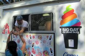 100 Gay Truck Big Ice Cream Viewing NYC
