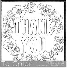 Thank You Coloring Page For Grown Ups