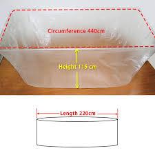 Disposable Plastic Bathtub Liners by Amazon Com Tfy Ultra Large Disposable Film Bathtub Lining Bags
