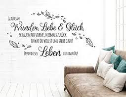 tjapalo pkm489 wandtattoo glaube an wunder liebe und glück wandtattoo wohnzimmer spruch wandsticker glaube wandaufkleber sprüche farbe schwarz