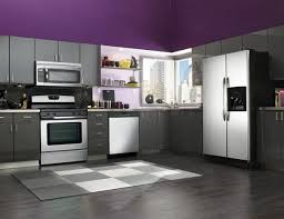 Kitchen Decor Ideas In Purple Grey Colour Combination