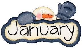 January Birthday Clipart