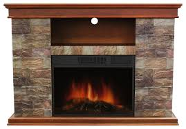 OK Lighting Faux Stone Portable Fireplace View in Your Room