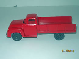 Vintage 1953 Tootsie Toy Red Ford F700 Restored Diecast Grain Truck ... Vintage Tootsie Toy Fire Trucks Country Tazures Toys Pickup Trucks Lot 9 Vtg 1970s Diecast Plastic Jeep Uhaul Panel Otsietoy Red Hook And Ladder Truck Facing Front Right Otsietoy Aerial With Extension 1940s Tootsietoy 236 Lofty Antique Water Tower 1920s 4 Color Version Hubley Ladders From The 1930s For Sale Pending Prewar Tootsietoys Article By Clint Seeley