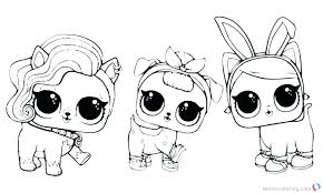 Lol Doll Coloring Pages Pets Download This Page