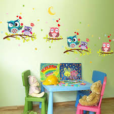Owl Bedroom Wall Stickers by Owl Nursery Decor Ebay