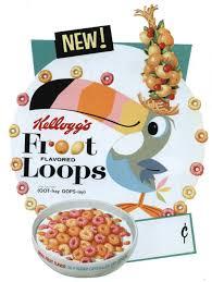 Vintage Froot Loops Box