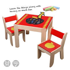 Labebe Wooden Activity Table, Red Apple Child Table And Chair For 1 ...