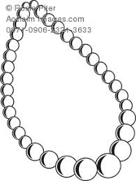 Clip Art Illustration The Outline A Pearl Necklace Acclaim