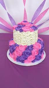 New Purple Birthday Cake Weed Best 25 Pink Rosette Cake Ideas Pinterest Birthday Cake